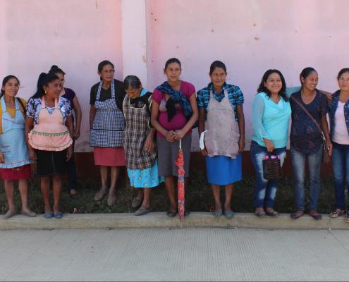 Integrantes del grupo de productoras Red de Mujeres, en Guatemala